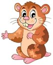 Cute cartoon hamster Stock Photography