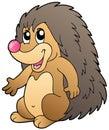 Cute cartoon hedgehog Stock Photography