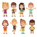 Cute Cartoon Kids Set. Childre...