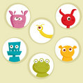 Cute cartoon monsters Stock Photography