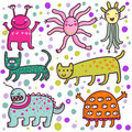 Cute cartoon monsters Royalty Free Stock Photo