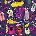 Cute Cartoon Monsters, Vector cute monsters set collection