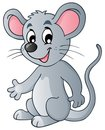 Cute cartoon mouse Stock Photography
