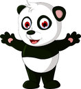 Cute cartoon panda posing illustration of Stock Photo