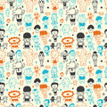 Cute cartoon pattern seamless Royalty Free Stock Image