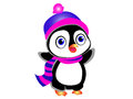 Cute Cartoon Penguin Royalty Free Stock Photo
