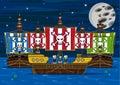 Cute Cartoon Pirates Royalty Free Stock Photo