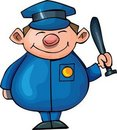 Cute Cartoon policeman Royalty Free Stock Image