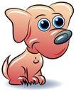 Cute cartoon puppy dog Royalty Free Stock Photo