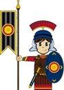 Cute Cartoon Roman Soldier Royalty Free Stock Photo