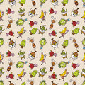 Cute cartoon seamless pattern Royalty Free Stock Photos
