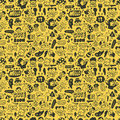 Cute cartoon seamless pattern Stock Photo