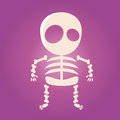 Cute cartoon skeleton funny illustration of a Stock Photos