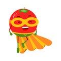 Cute vector tomato cartoon character illustration
