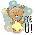 Cute Cartoon Teddy Bear Royalty Free Stock Photo