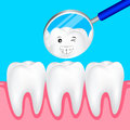 Cute cartoon teeth smile to you