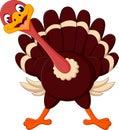 Cute Cartoon turkey Royalty Free Stock Photo