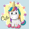 Cartoon Unicorn Isolated On A ...