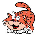 Cute cat cartoon illustration