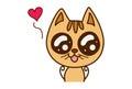 Cute Cat in Love.