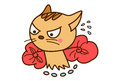 Cute Cat Sticker running with stuff.