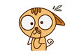 Cute Cat Sticker shocked.