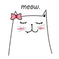 Cute Cat Vector For Kids.