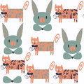 Cute cats seamless pattern. It is located in swatch menu,