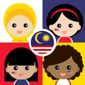 Cute and cheerful Malaysian supporter