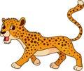 Cute cheetah cartoon Royalty Free Stock Photo