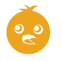 Cute chicken character icon