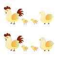 Cute chicken family Royalty Free Stock Photo