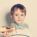 Cute child boy with toys Royalty Free Stock Photo