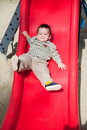 Cute child on slide Stock Photography