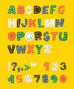 Cute childish alphabet. Royalty Free Stock Images