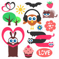 Cute childish elements Stock Images