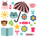Cute childish elements for design Stock Photo