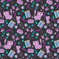 Cute childish seamless pattern Stock Image