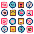 Cute childish stamps set Stock Photography