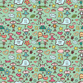Cute childlike seamless pattern Stock Images