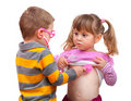 Cute children are playing doctor Royalty Free Stock Images