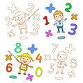 Cute childrens labels. stylish in motion with speech bubble. The file is saved the version AI10 EPS. This image contains transpare Royalty Free Stock Photo