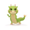 Cute chinese dragon on white background Royalty Free Stock Images