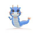 Cute chinese dragon on white background Royalty Free Stock Photos