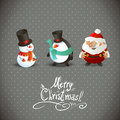 Cute Christmas Characters Royalty Free Stock Photo