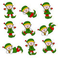 Cute Christmas Elf Set Stock Image