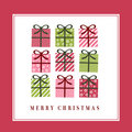 Cute christmas greeting card Stock Photos