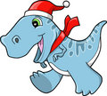 Cute Christmas Holiday Tyrannosaurus Dinosaur Stock Photography