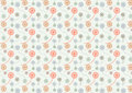 Cute Circle Flower Pattern on Pastel Color Royalty Free Stock Photo