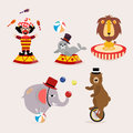 Cute circus character collection